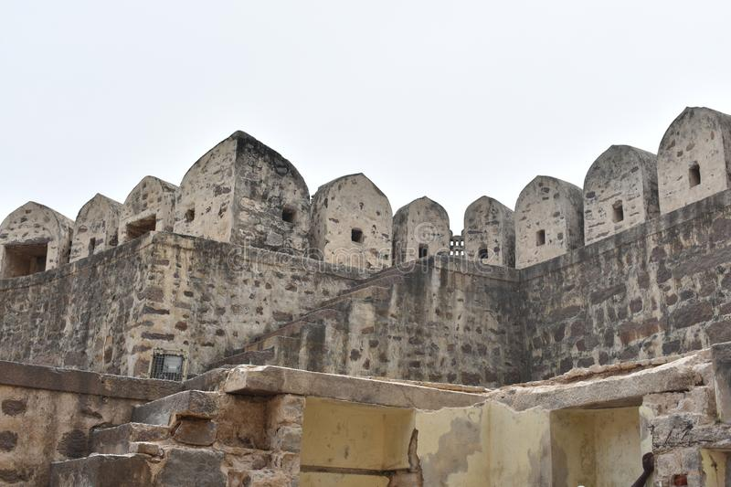 GolKonda fort Hyderabad fotografia royalty free