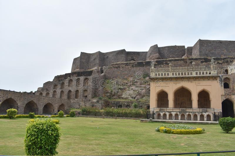 GolKonda fort Hyderabad obrazy royalty free