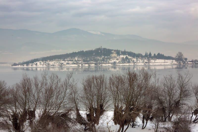 Golkoy / Bolu / Turkey, winter season landscape. Travel concept photo.  royalty free stock image