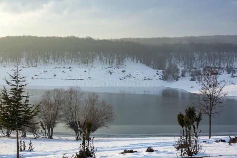 Golkoy / Bolu / Turkey, winter season landscape. Travel concept photo.  royalty free stock photo