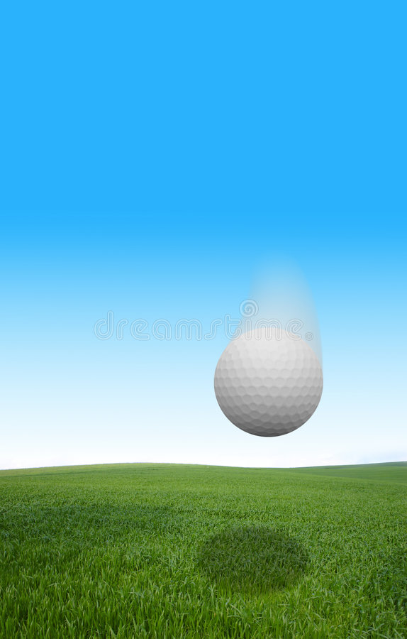 Free Gollf Ball Flying Royalty Free Stock Images - 2132899