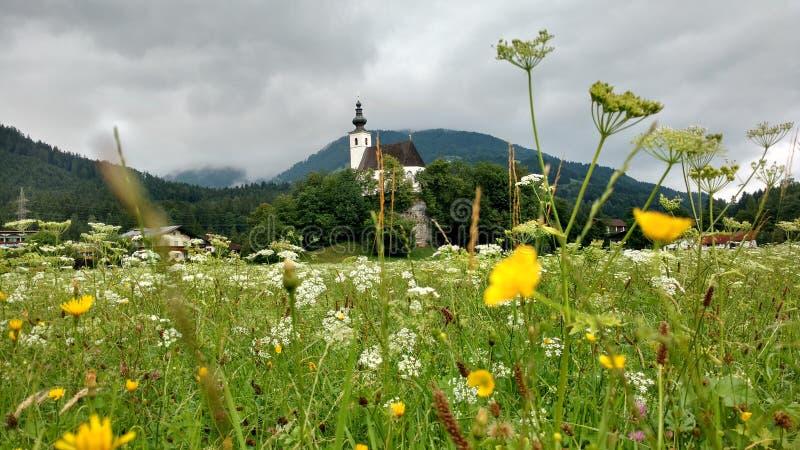 Golling ένα der salzbach kirche στοκ εικόνα