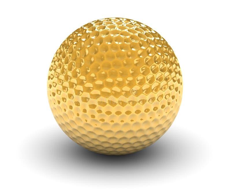 Goloden Golfball vektor abbildung