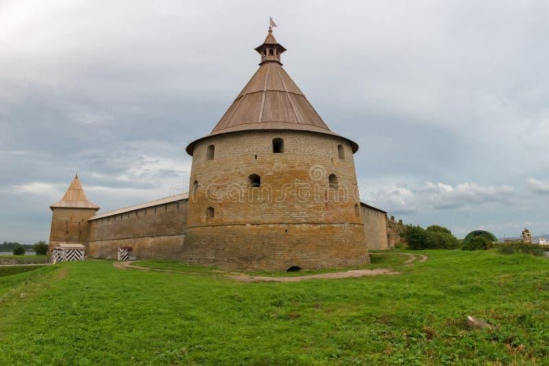 The Golovkina Tower of the Fortress of Oreshek royalty free stock photo