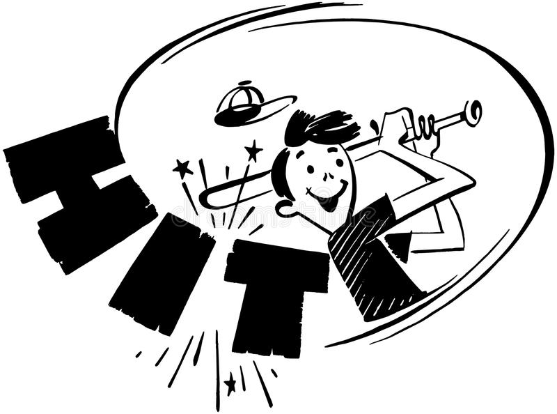 golpe stock de ilustración
