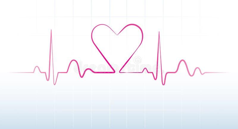 Golpe de corazón stock de ilustración