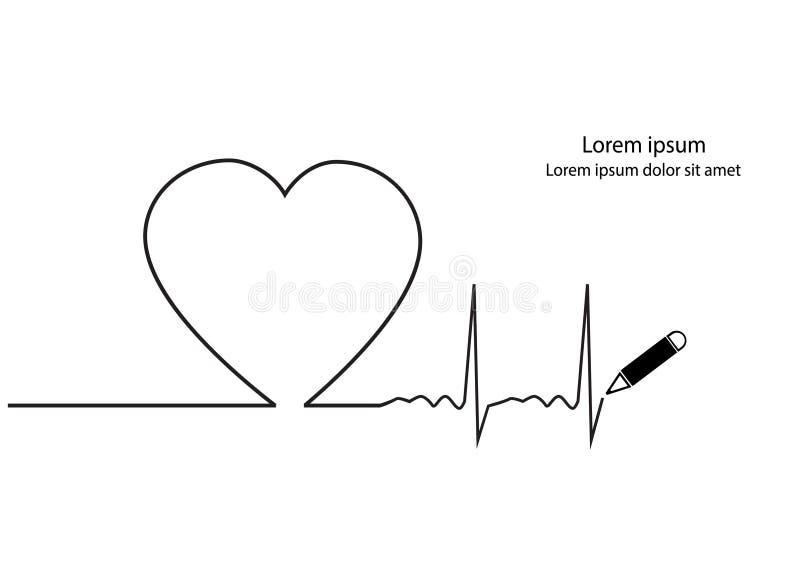 Golpe de corazón ilustración del vector