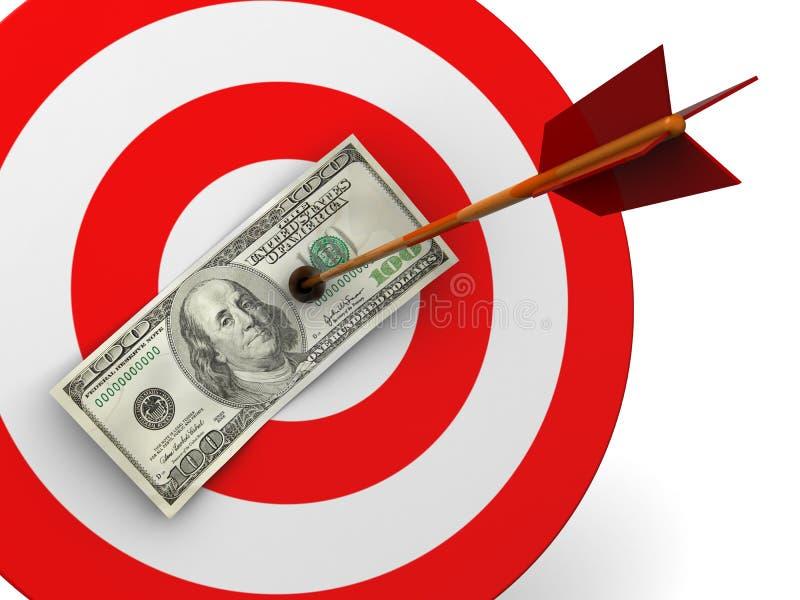 Golpe de la blanco del dólar libre illustration