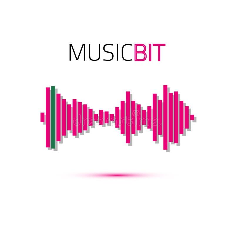 Golpe de la música Tecnología audio abstracta del equalizador Onda acústica Ilustración del vector stock de ilustración