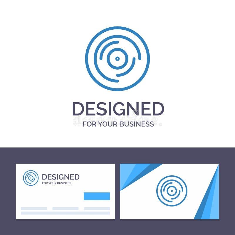 Golpe de visita de la plantilla creativa de la tarjeta y del logotipo, DJ, haciendo juegos malabares, rasguñando, ejemplo sano de libre illustration