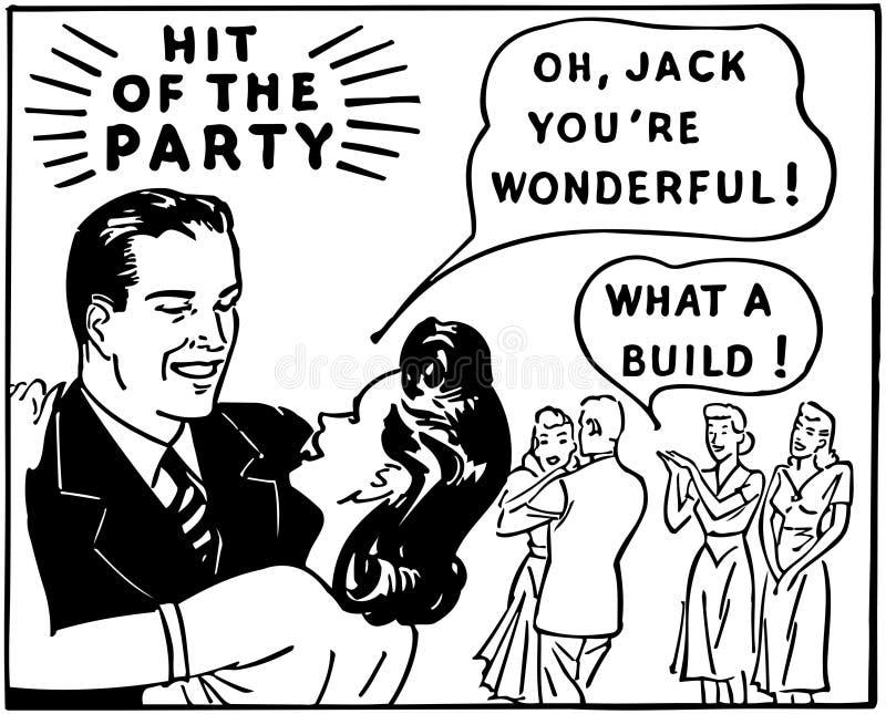 Golpe del partido stock de ilustración