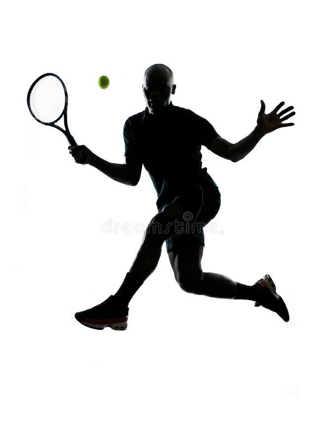 Golpe do jogador de ténis do homem imagens de stock royalty free