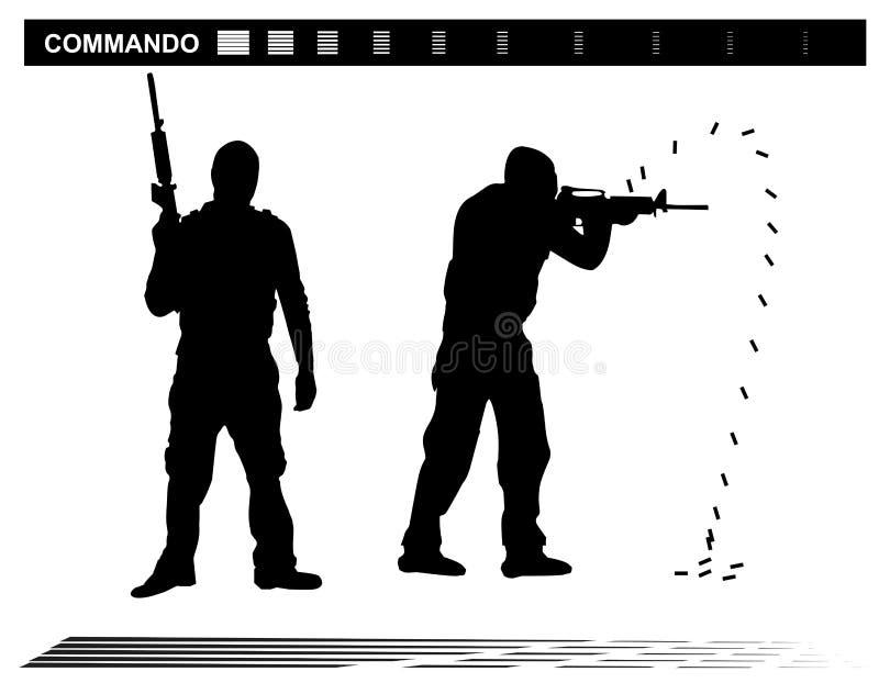 GOLPE Team Police das forças especiais da ilustração do vetor ilustração stock