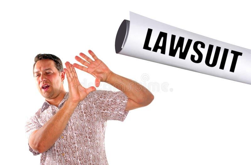 Golpeado com processo legal imagens de stock