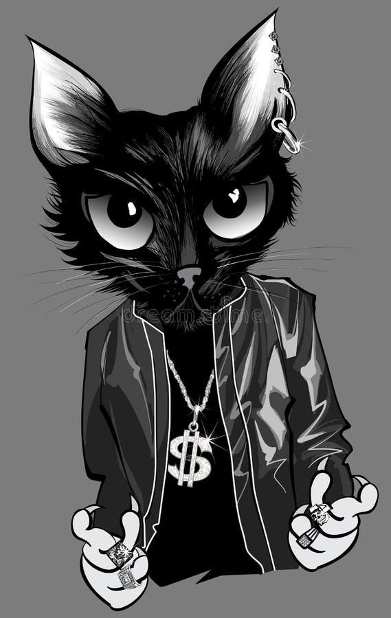 Golpeador del gatito ilustración del vector