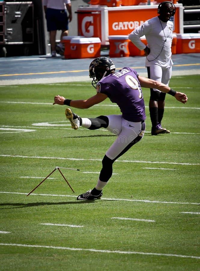 Golpeador Justin Tucker de los Baltimore Ravens imagenes de archivo