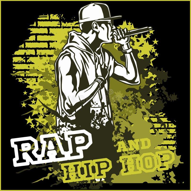 Golpeador urbano - ejemplo del vector del hip-hop ilustración del vector
