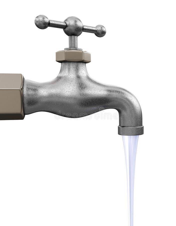 Golpecito de agua Imagen con la trayectoria de recortes stock de ilustración