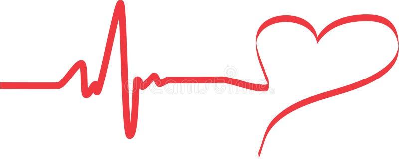 Golpeo del corazón ilustración del vector