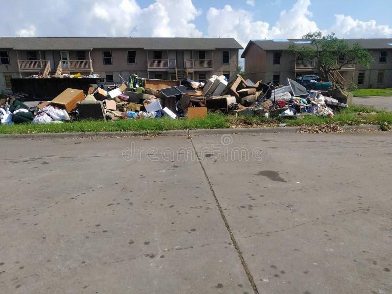 Golpes del harvey del huracán fotos de archivo libres de regalías