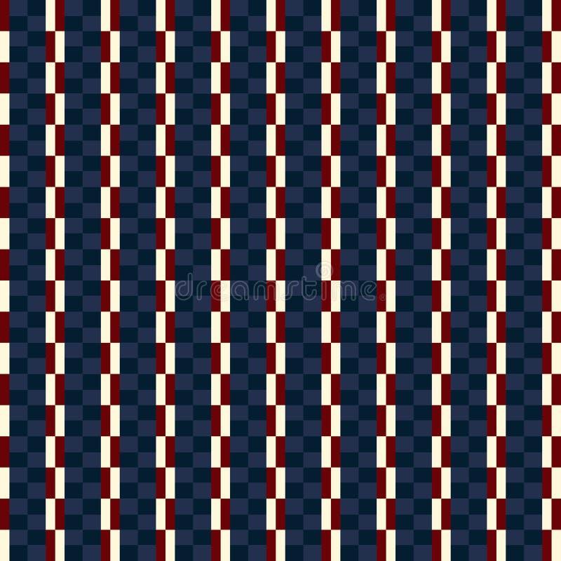 Golpeteo beige del estilo del color de los E.E.U.U. y rojo azul inconsútil de la tela escocesa de la moda ilustración del vector