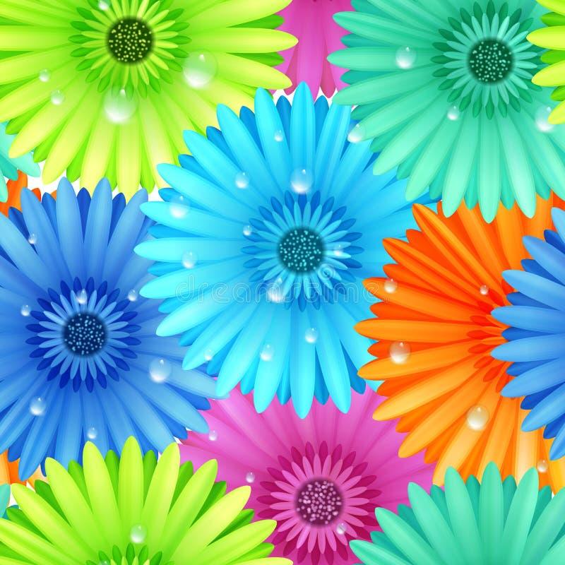 Download Golpeteo Inconsútil Del Gerbera De La Flor Ilustración del Vector - Ilustración de verde, saludo: 42432846