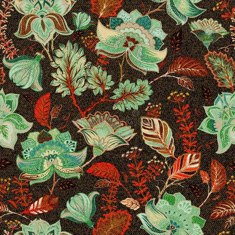 Golpeteo inconsútil floral, estilo de Provence ilustración del vector