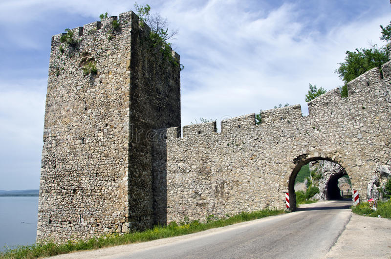 Golubac堡垒 库存图片