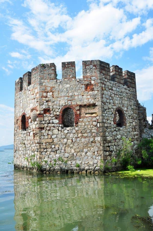Golubac fästning royaltyfri foto