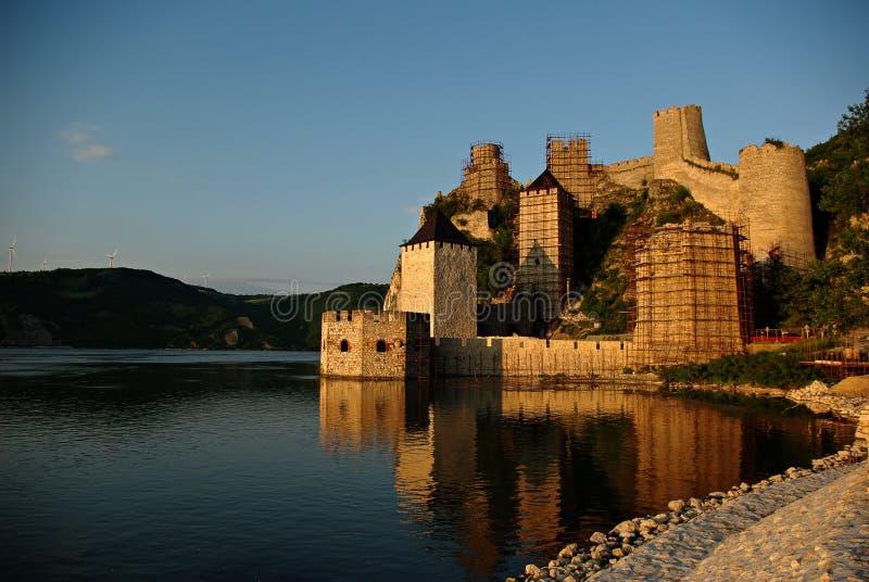Golubac fortecy panorama fotografia royalty free