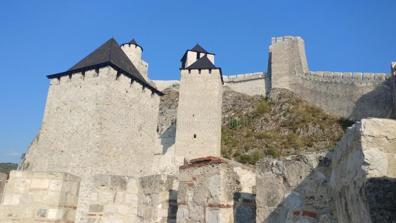Golubac Fortress. Stones, knights, medival, danube, war royalty free stock photography
