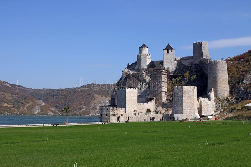 Golubac fortress one of the most wonderful fortresses on stock photography