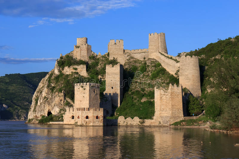 Golubac fortress in Serbia stock images