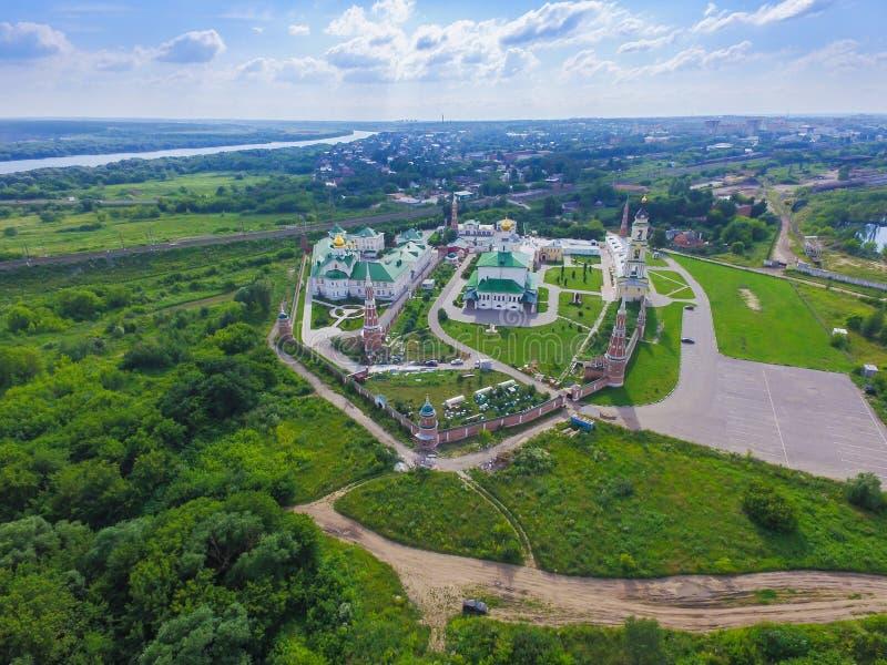 Golutvin kloster i Kolomna arkivbilder