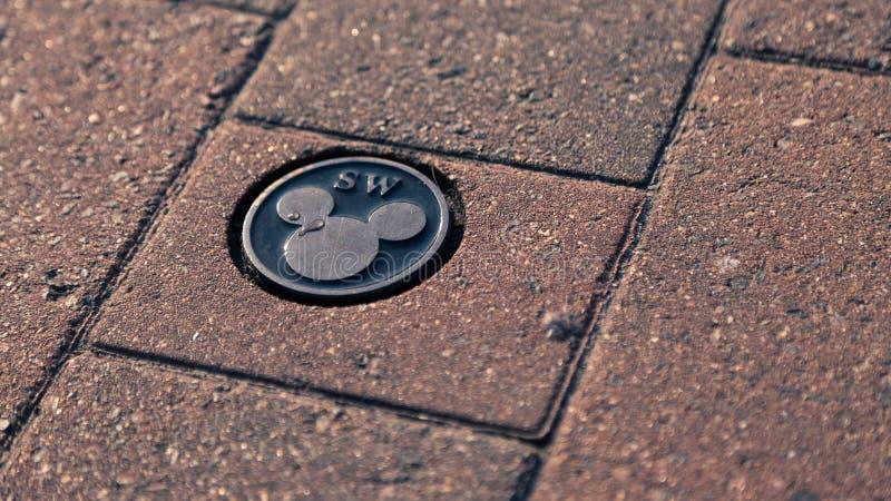 Golv Disney Mickey Mouse Logo royaltyfri foto