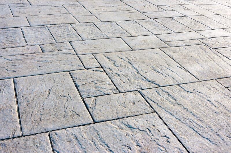 Golv med förberedande stenar arkivfoto