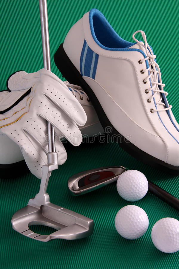 golve golfowi buty obraz stock