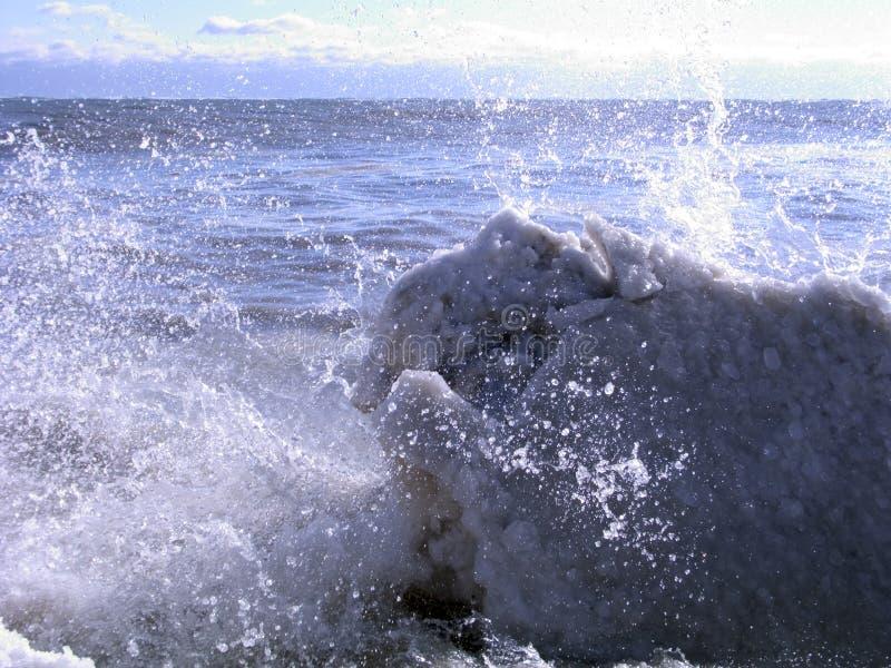 Golven 04 van het ijs stock afbeeldingen