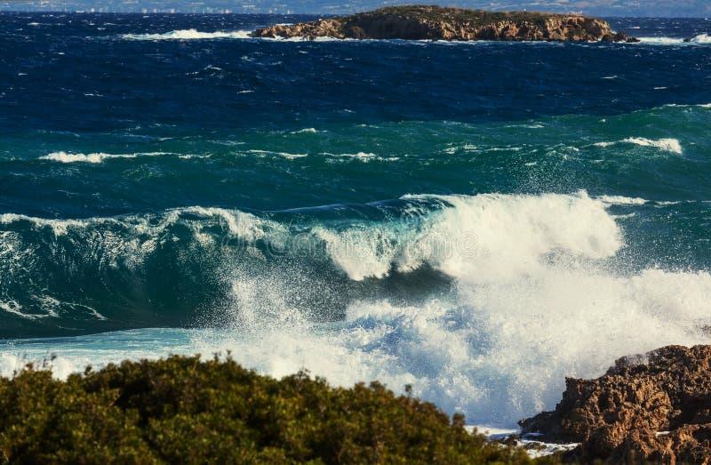Golven in Cyprus stock fotografie