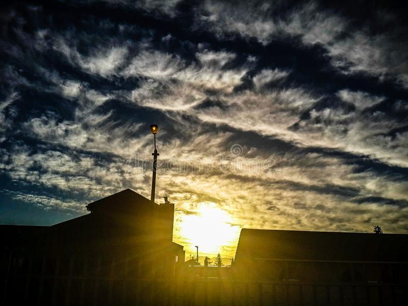 Golven in de wolken stock afbeelding