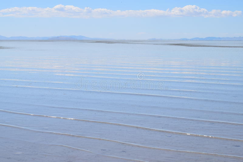 Golven op Great Salt Lake stock foto
