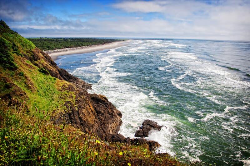 Golven op Washington Coast royalty-vrije stock foto