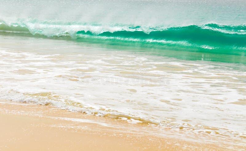 Golven van een tropische overzees stock fotografie