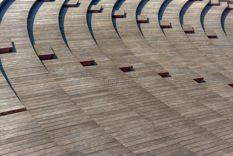 Golven van houten rijen royalty-vrije stock fotografie