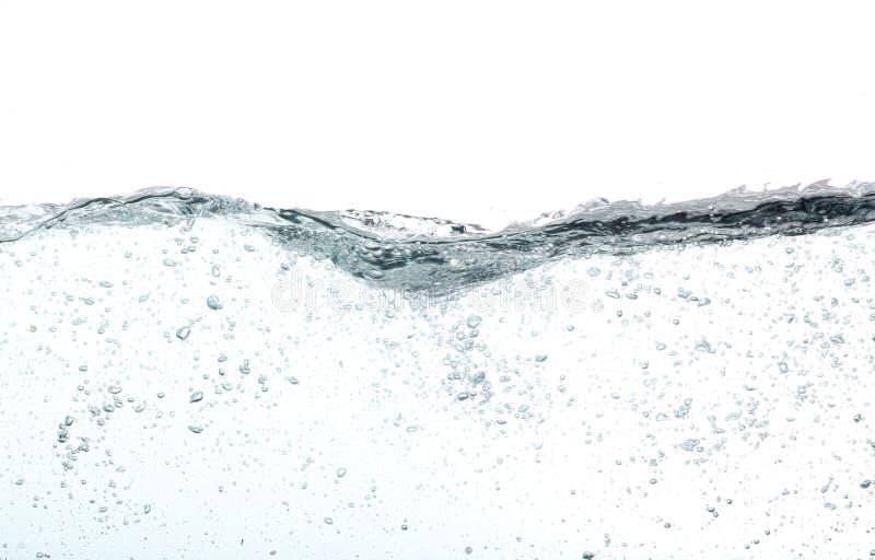 Golven van water met veel bellen, royalty-vrije stock afbeelding