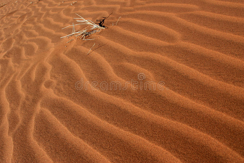 Golven van zand stock fotografie