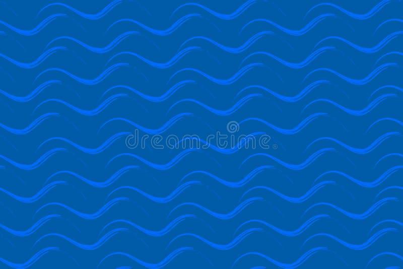 Golven Vector naadloos patroon EPS10 stock foto