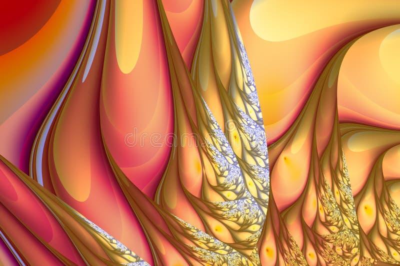 Golvend abstract patroon met grote toevloed vector illustratie