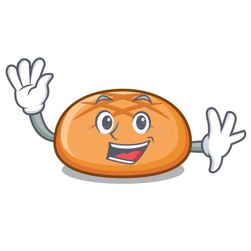Golvend het karakterbeeldverhaal van het hamburgerbroodje vector illustratie