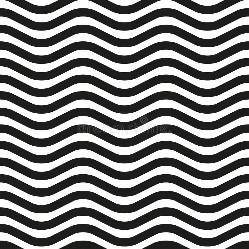 Golvend lijn gestreept naadloos patroon vector illustratie